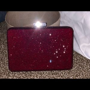 Burgundy clutch from White House Black Market